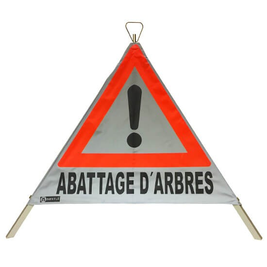 Nestle Warnfaltdreieck ABATTAGE D'ARBRES 90 vollreflektierend