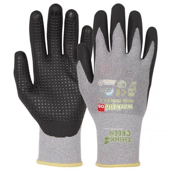 OS Think Green Strong Nitril Dot Handschuhe