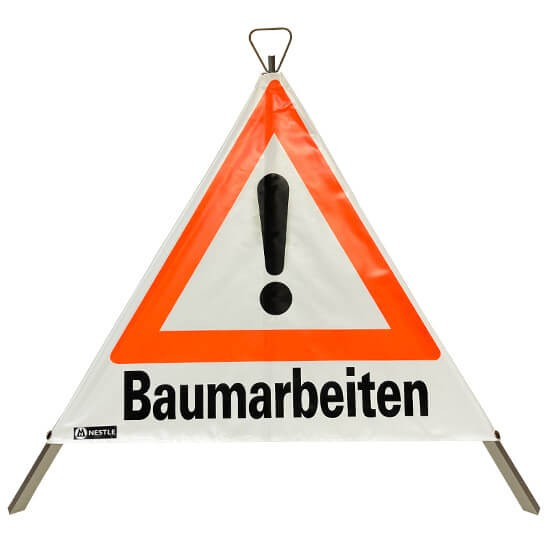 Nestle Warning triangle Baumarbeiten 90