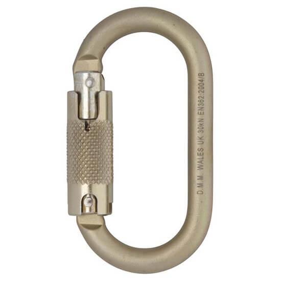DMM 10mm Oval Locksafe Oval Steel Carabiner